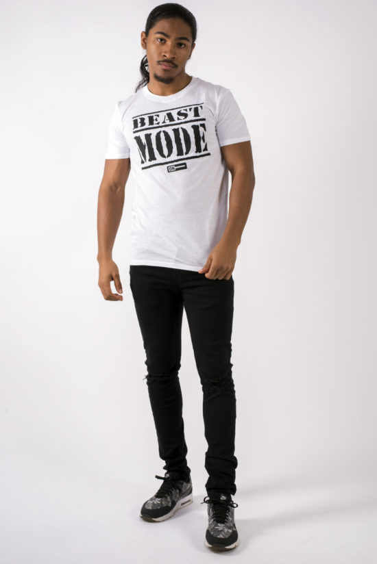 beast mode on mens t-shirt white