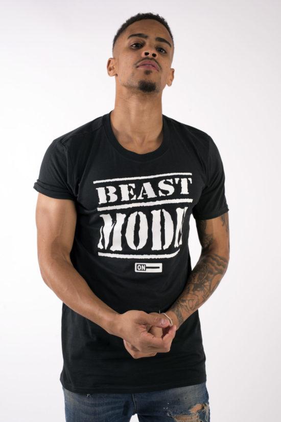 beast mode on mens t-shirt black
