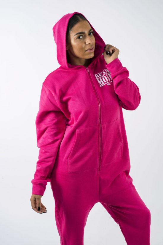 Beast Mode On Unisex Onesie Pink