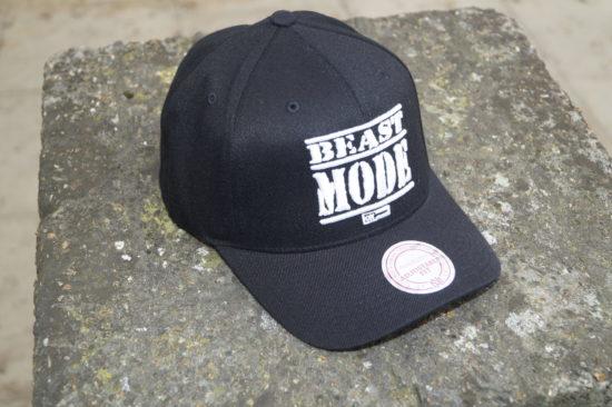 Beast Mode On Trucker Hat White on Black