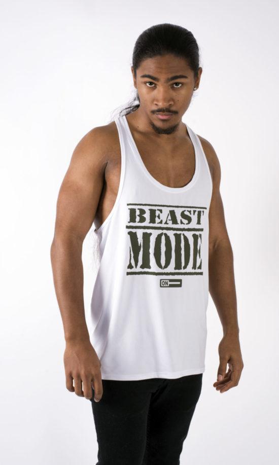 Beast Mode On White Vest