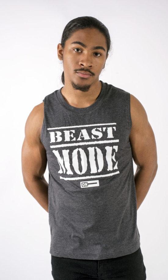 Beast Mode On Grey Tank Top