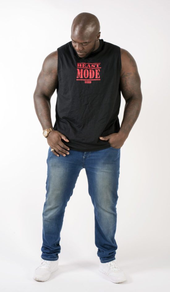 Akinfenwa Beast Mode On Black Tank Top