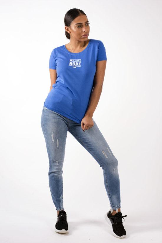 Beast Mode On Ladies T-Shirt Blue