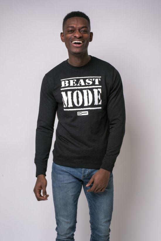 Beast Mode On Jumper Black
