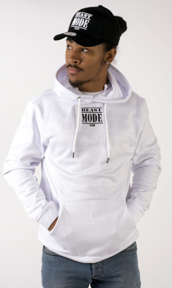 Beast Mode On Hoodie White