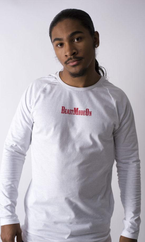 Beast Mode On Long Sleeve T-Shirt White