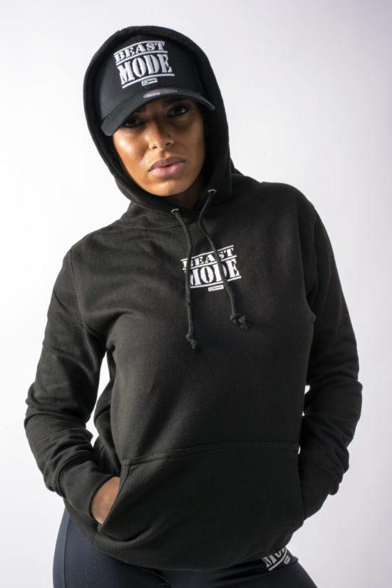 Beast Mode On Female Hoodie Black