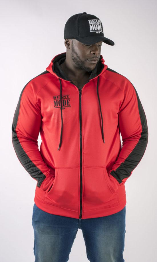 Akinfenwa Beast Mode On Red Hoodie