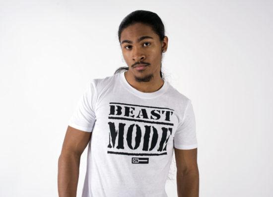 Original Beast Mode On White T-Shirt